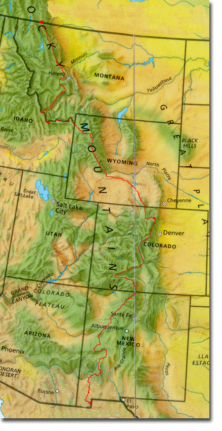 Continental Divide On Us Map.Appalachian Long Distance Hikers Association Cdt Mailing Labels