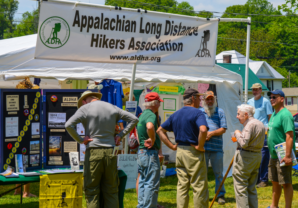 ALDHA tent at Trail Days